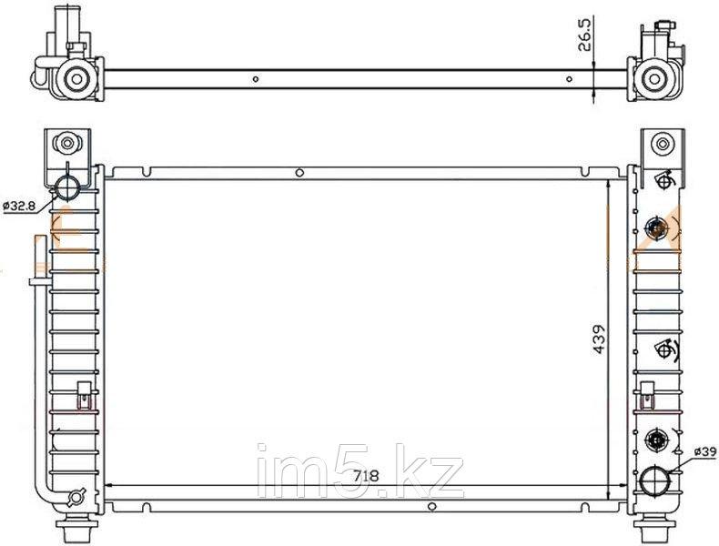 Радиатор CHEVROLET AVEO 05-07 4/5D (обьём 1.2)