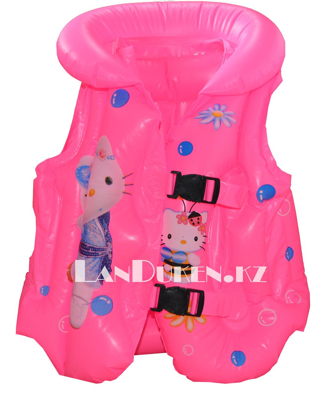 """Надувной спасательный жилет для плавания """"КИТИ"""" (Life Jacket розовый)"""