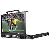 "TLM-170GM LCD складной монитор для монтажа в рэк-стойку, высотой 1U (17.3"" HD/SD TFT), фото 1"