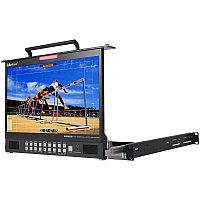 """TLM-170PM LCD складной монитор в рэк-стойку, высотой 1U 17.3"""" HD/SD TFT"""