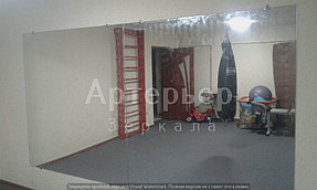 Монтаж зеркал в спортивный зал, 18 июня 2016, г.Алматы 1