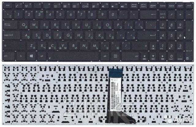 Клавиатура для ноутбука Asus X551, RU, черная