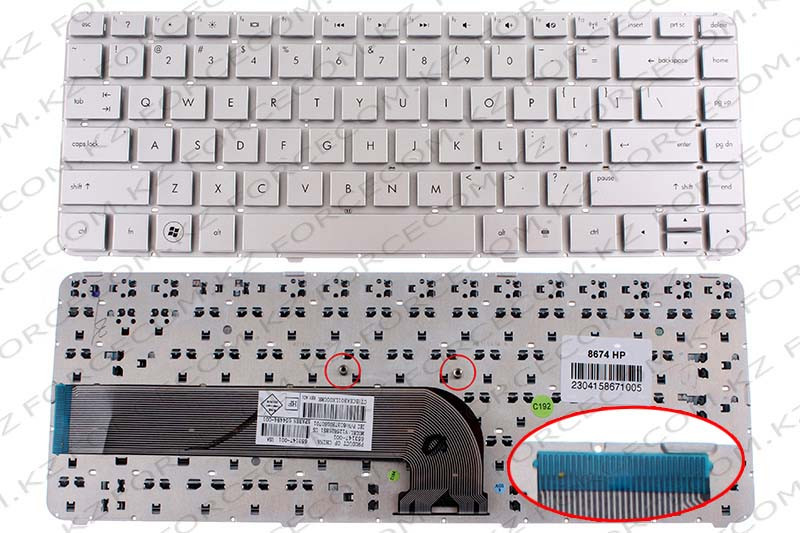 Клавиатура для ноутбука HP Pavilion DV4-3000/ DV4-4000, ENG, серебряная