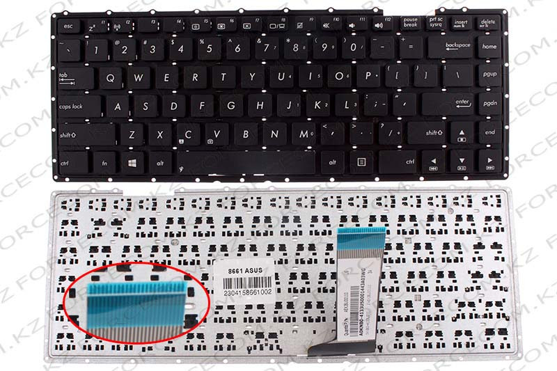 Клавиатура для ноутбука Asus X451, ENG, черная