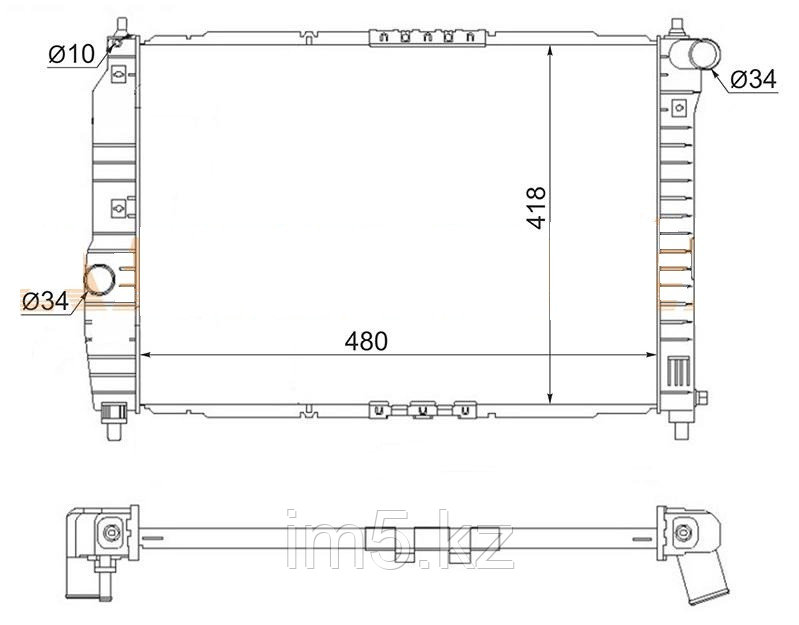 Радиатор CHEVROLET AVEO 05-07 4/5D (обьём 1.2 механика)