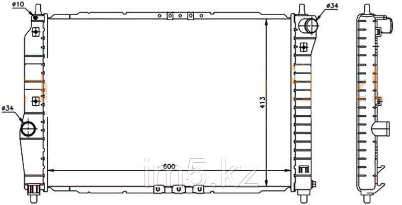Радиатор CHEVROLET AVEO 05-07 4/5D (обьём 1.6 механика)