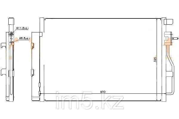 Радиатор кондиционера CHEVROLET AVEO 11-