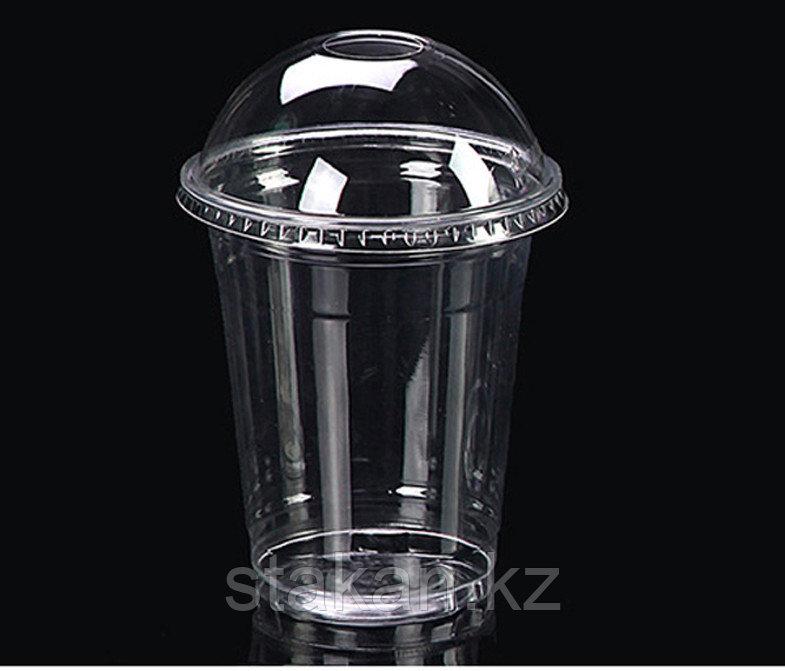 Пластиковые стаканы с купольной крышкой, 500мл.