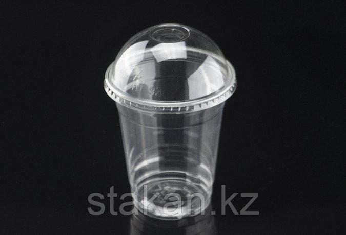 Пластиковые стаканы с купольной крышкой, 350мл.