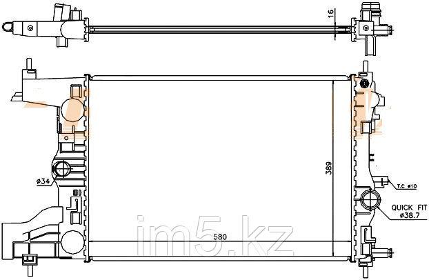 Радиатор  CHEVROLET CRUZE 09-(механика)