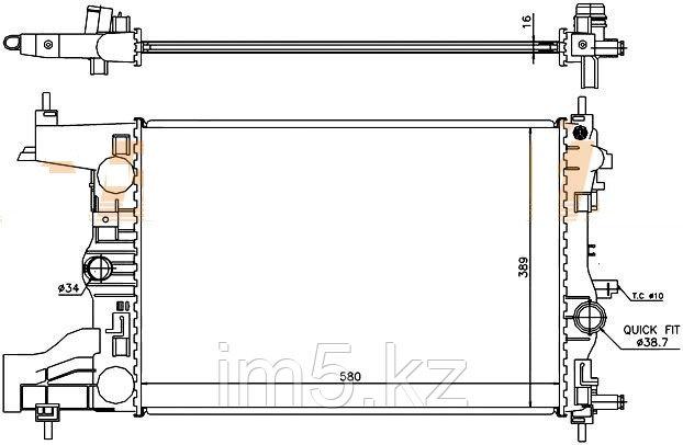 Радиатор   CHEVROLET CRUZE 09- (механика)