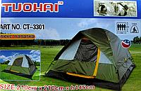 Палатка-шатер с дождевиком ЛЮКС TUOHAI CT-3301 Hewolf 210* 210* h 145 см