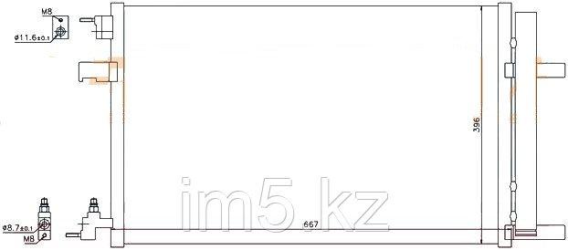 Радиатор кондиционера CHEVROLET CRUZE 13-