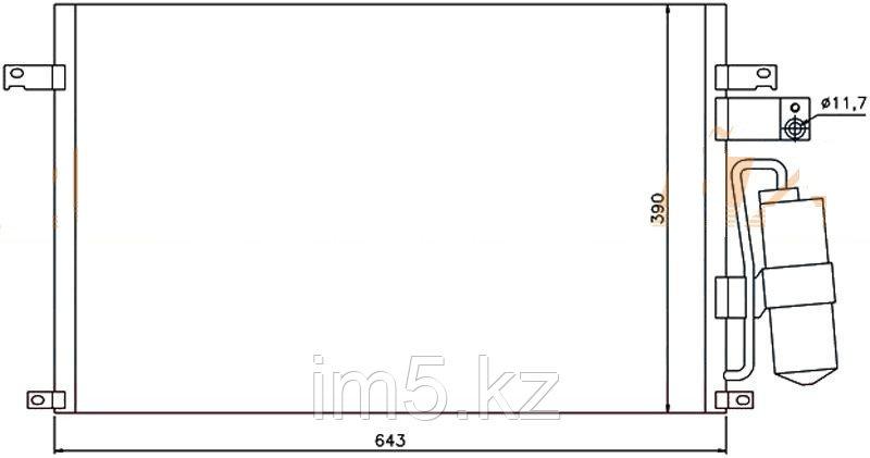 Радиатор кондиционера CHEVROLET EPICA 04-