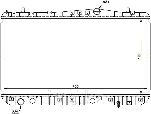 Радиатор CHEVROLET LACETTI 04-(механика)