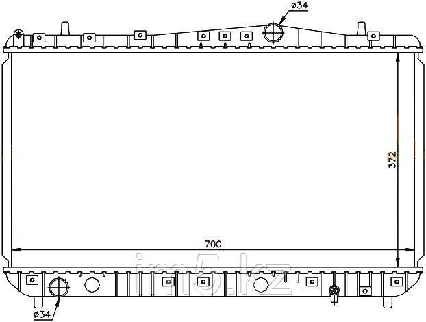 Радиатор CHEVROLET LACETTI 04- (механика)