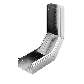 Крышка секции угловой вертикальной наружней ЛЛ R=300-900 с замками(ОПВ)