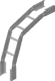 Секция угловая вертикальная наружняя (вниз) шарнирная ЛЛ