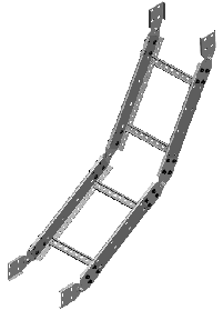 Секция угловая вертикальная внутреняя (вверх) шарнирная ЛЛ