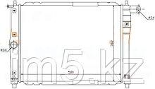 Радиатор CHEVROLET LANOS 97-