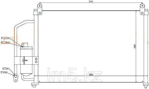 Радиатор кондиционера CHEVROLET LANOS 97-