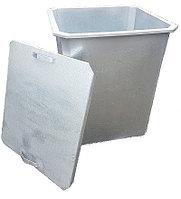 Оцинкованный нержавеющий мусорный контейнер 0,75 куб (с крышкой, без колес)