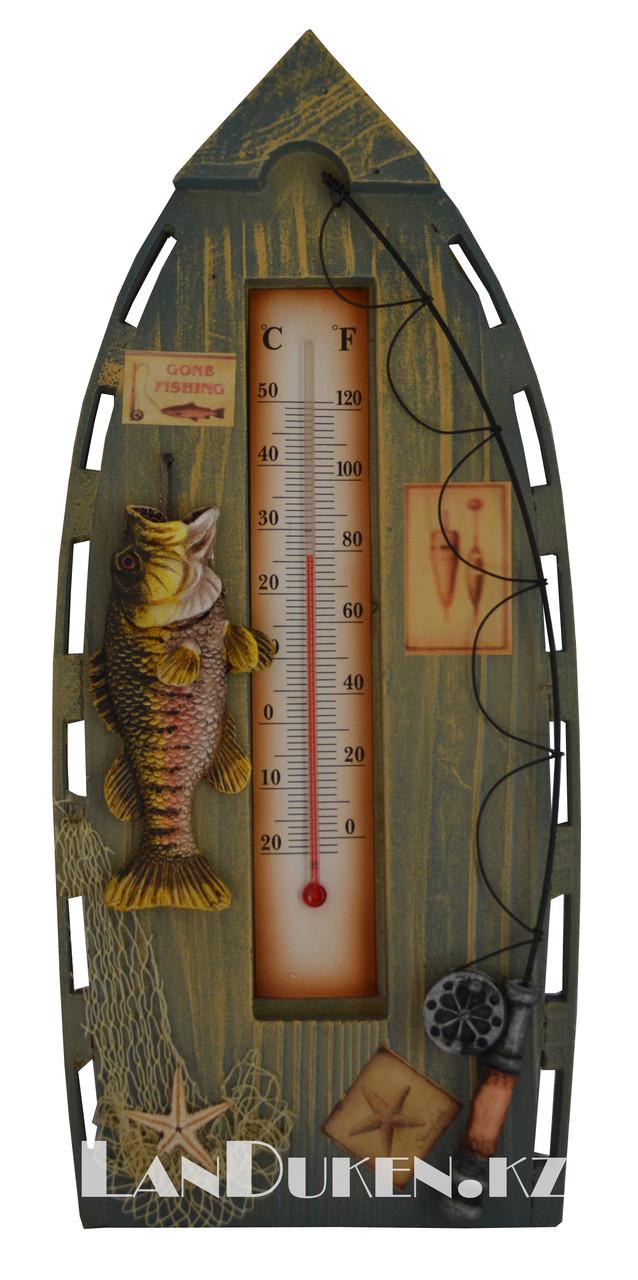 Деревянный настенный Градусник для измерения температуры воздуха (комнатный термометр)