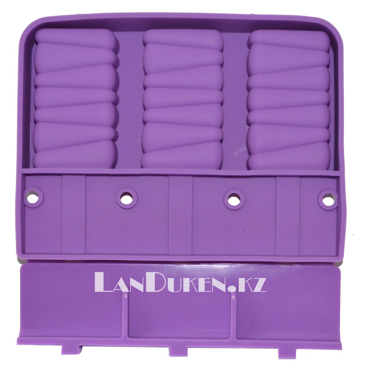 Формочки для мороженого силиконовые 3 ячейки (фиолетовые)