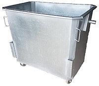 Мусорный контейнер оцинкованный 1100 л с колесами (НДС 12% в т.ч.)