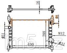 Радиатор CHEVROLET ORLANDO 11-
