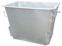 Оцинкованные нержавеющие мусорные контейнеры, евроконтейнеры 1100 л (НДС 12% в т.ч.), фото 1