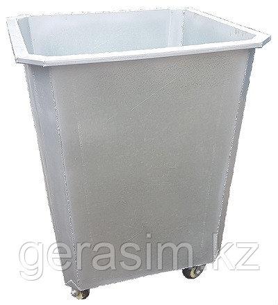 Оцинкованный мусорный контейнер 0,75 куб. без крышки на колесах
