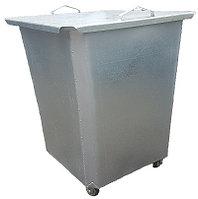 Оцинкованный нержавеющий мусорный контейнер 0,75 куб с крышкой на колесах (НДС 12% в т.ч.)