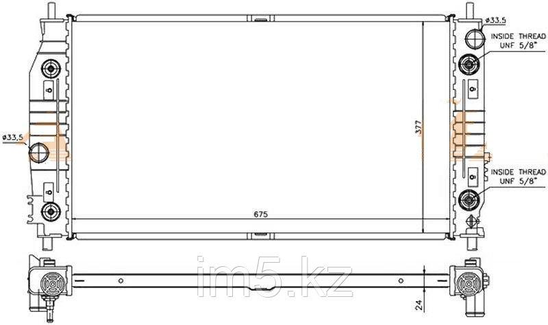 Радиатор CHRYSLER 300M 98-04