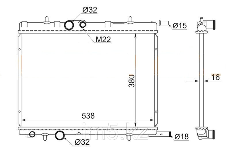 Радиатор CITROEN BERLINGO I 96-11