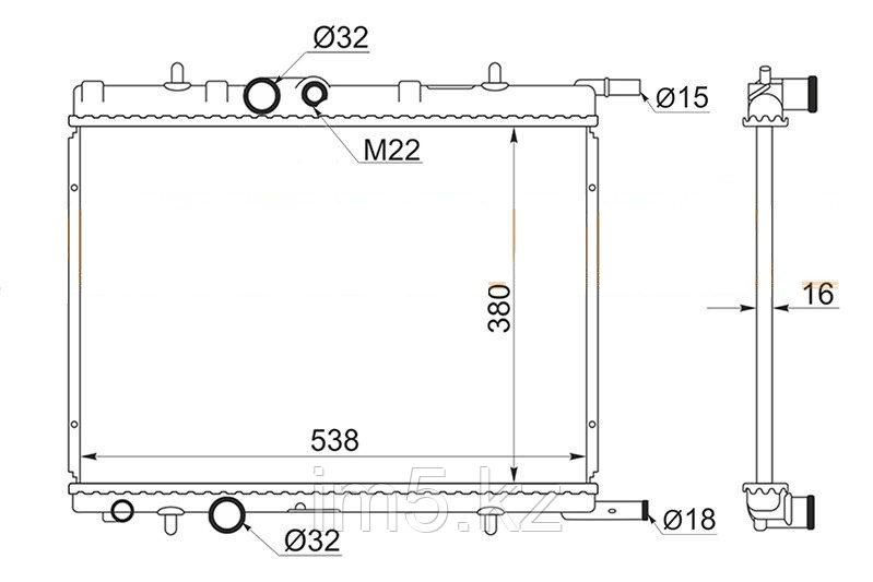 Радиатор PEUGEOT 206 98-05