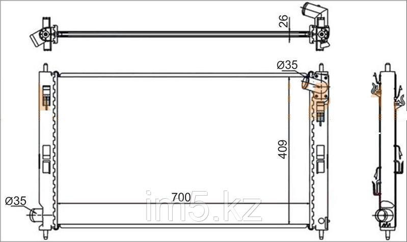 Радиатор CITROEN C-CROSSER 07-12