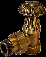 Вентиль RETROstyle латунный 1/2 угловой верхний радиаторный RS 217A