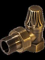 Вентиль RETROstyle латунный 1/2 угловой нижний радиаторный RS 217B
