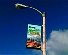 Баннерная растяжка, кронштейн на столб, придорожный указатель, лайтбокс, фото 6