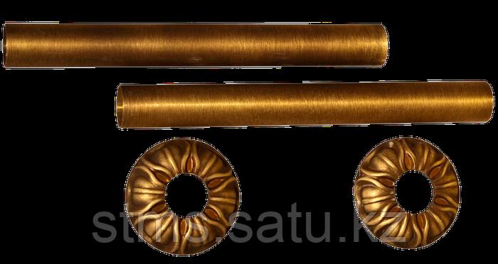 Комплект декоративных трубок и розеток D18/L160 мм Retrostyle латунь