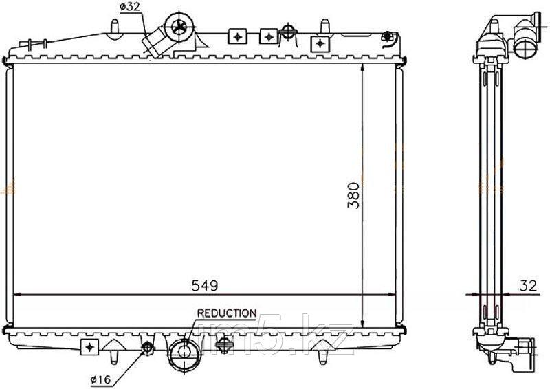 Радиатор CITROEN C5 00-08