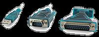 Переходник USB-RS-232 (DB-9M) 1,4м переходник DB9F для DB25M, USB2.0,  2 чипа PL2303, фото 1