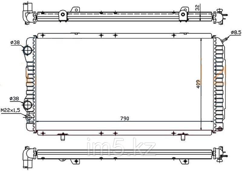 Радиатор  FIAT DUCATO 94-06