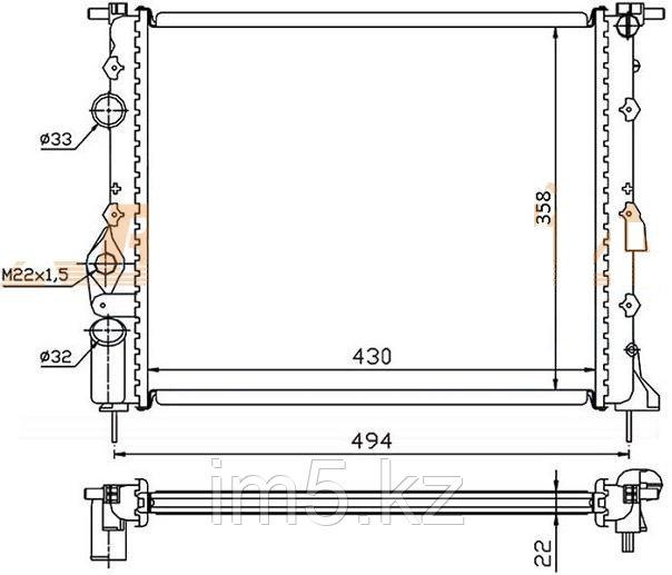 Радиатор  RENAULT MEGANE I 95-02
