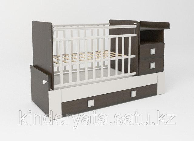 Детская кроватка-трансформер СКВ 8 , с поперечным маятником