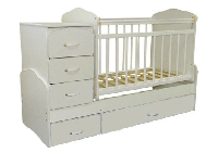 Детская кроватка-трансформер СКВ 9, с комодом и поперечным маятником