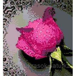 "Картина стразами ""Малиновая роза"" 22х24 см"