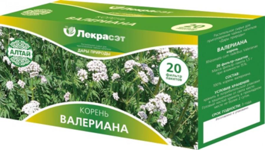 Валериана, корень, 20 фильтр-пакетов