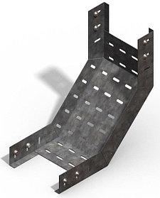 Короба перфорированые угловые для поворота вверх на 90гр. КП (90°) в комплект входят метизы